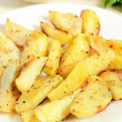 Fried potato wedges — Stock Photo