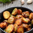 Roasted potato in a frying pan — Stock Photo #39792295