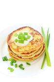 Potato pancakes on white plate — Stock Photo