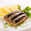 Sprats sandwiches  — Stock Photo #41733399