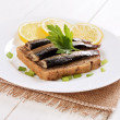 Sprats sandwiches  — Stock Photo #42126221