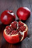 Pomegranate fruits on table — Photo