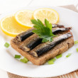 ������, ������: Bread with sprats