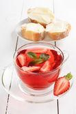 Strawberry tea with mint  — Stok fotoğraf