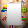 School accessories on a wooden background. — Stock Photo #12885208