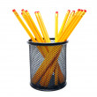 Pencils in a basket. — Stock Photo
