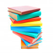 Multi-coloured books. School . — Stockfoto