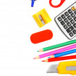 School tools on white background. — Stock Photo