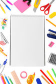 Back to school. The Stationery and notebook. — 图库照片