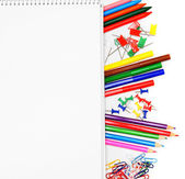 The Stationery and notebook. — Stok fotoğraf
