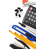 Office accessories on white background. — Stock Photo