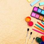 School tools on rumpled paper. — Stock Photo #12896756