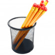 Pencils in basket. — Stock Photo