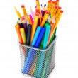 Stock Photo: Multi-coloured pencils.