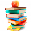 Books and a red apple. — Stock Photo #12899450