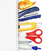 The Stationery and notebook. — Stock Photo