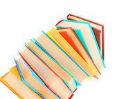 Multi-coloured books. — Stock Photo