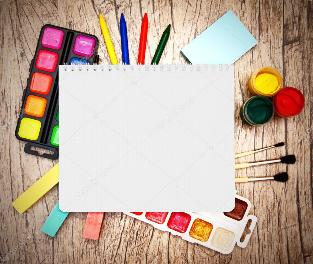 Notebook and a school tools. — Stock Photo #12897709