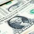 Stock Photo: Background. scattering of banknotes (dollars).