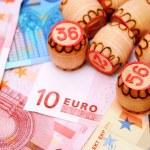 Lottos for euro banknotes. — Stock Photo #18979725