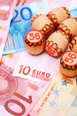 Lottos for euro banknotes. — Stock Photo