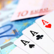 Game cards for euro banknotes. — Stock Photo #18982329