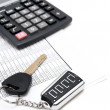 Calculator, keys from car and documents. — Stock Photo #18983065