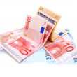 Euros of a banknote. — Stock Photo