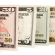 Stock Photo: Dollars. On white background.