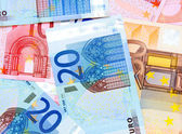 Background. It is a lot of money (euro). — 图库照片
