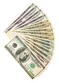 Pack of dollars. On a white background. — Stock Photo