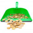 Coins in a scoop. — Stock Photo
