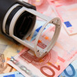 Stamp for euro banknotes. — Stock Photo