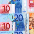 Euros of a banknote — Stock Photo