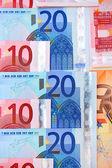 Euro di una banconota — Foto Stock