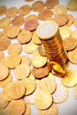 Background from gold coins. — Stok fotoğraf