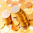 Background from gold coins. — Stock Photo