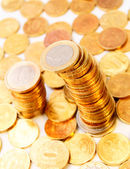 Background from gold coins. — Stockfoto