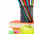 Back to school. School accessories on a white background. — Stock Photo #31647919