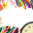 School... School subjects on a white background. — Stock Photo
