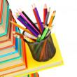 Pencils in basket — Stock Photo