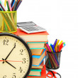 Stock Photo: Watch and other school subjects