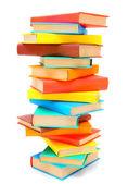 Den stora högen av flerfärgade böcker. — Stockfoto