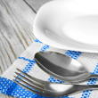 Dining facilities and plate. — Stock Photo