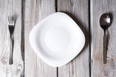 Plate and tablewares. — Stock Photo