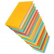 Pile of multi-coloured books on a white background. — ストック写真