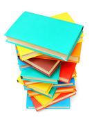 Libros multicolores sobre un fondo blanco. — Foto de Stock