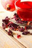 Pomegranate tea. Red tea. — Stock Photo