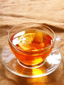 Tea with a lemon. — Stock Photo