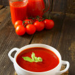Tomato sauce and juice — Stock Photo